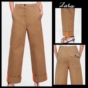 Zara high waisted sergeant chino pants - size 10